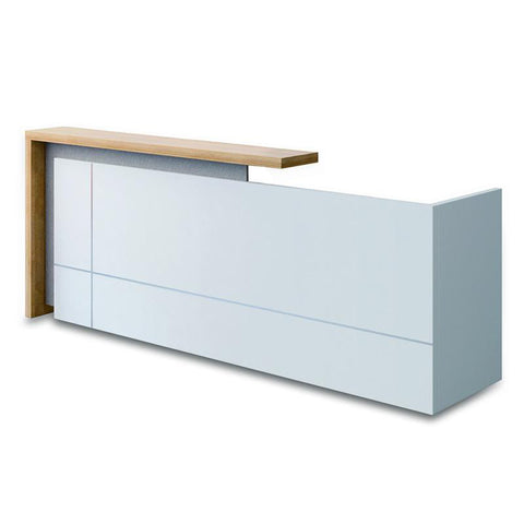 ZIVA Reception Desk 240cm Right Panel - White