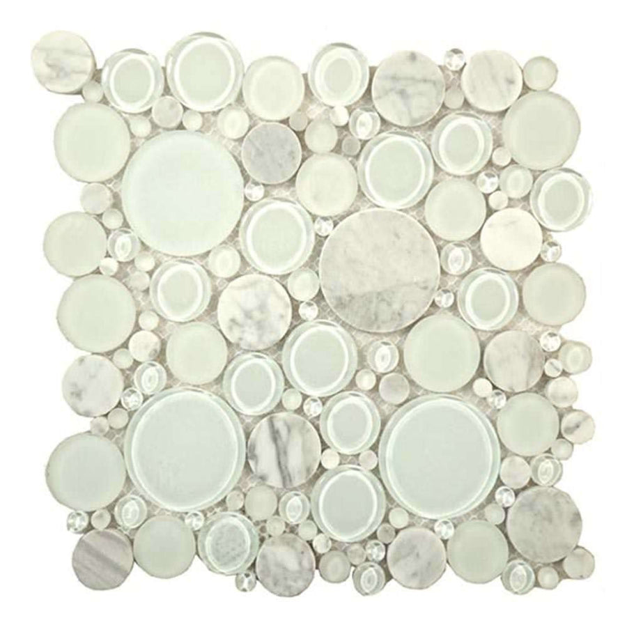 Well known Interlocking Glass and Stone Blend Mosaics TB15