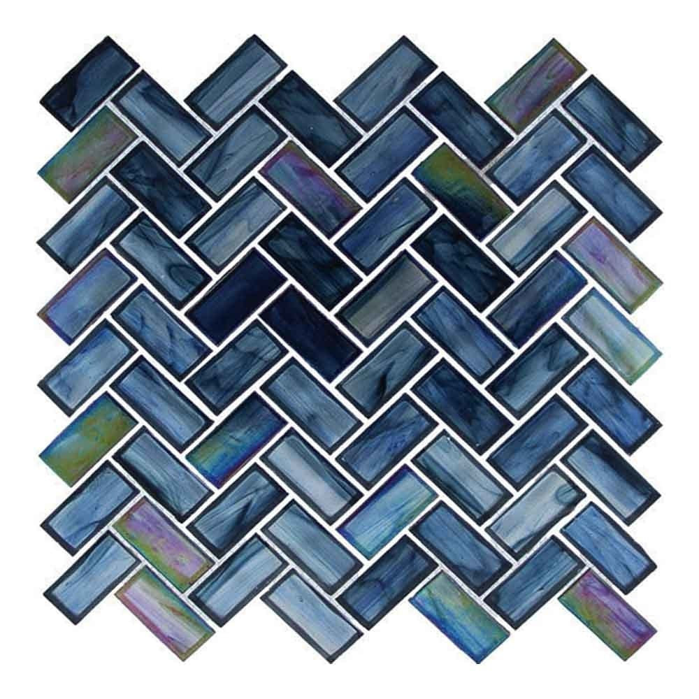 Ocean Breeze Herringbone Mosaics Tile