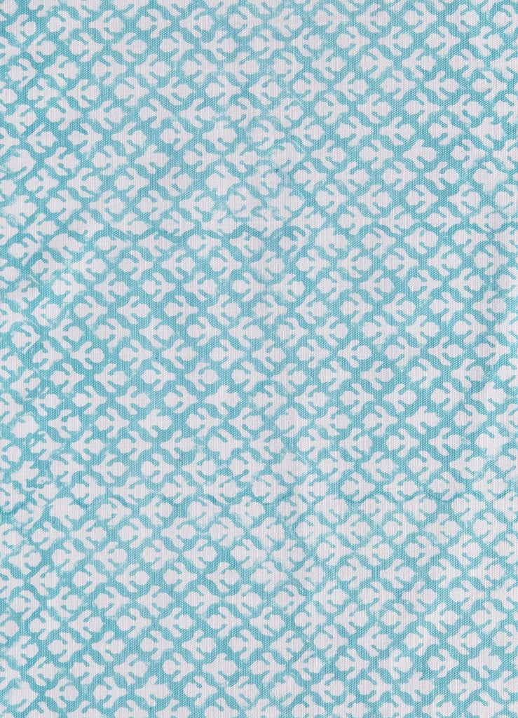 Fabric - Flowers Teal
