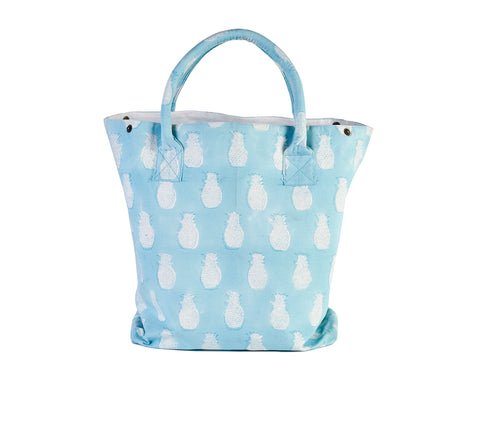 Tote Bag - Pineapples Blue