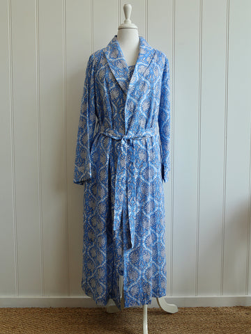 Dressing Gown - Cornflower Blue
