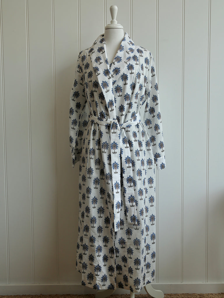 Dressing Gown - Palmtree Blue