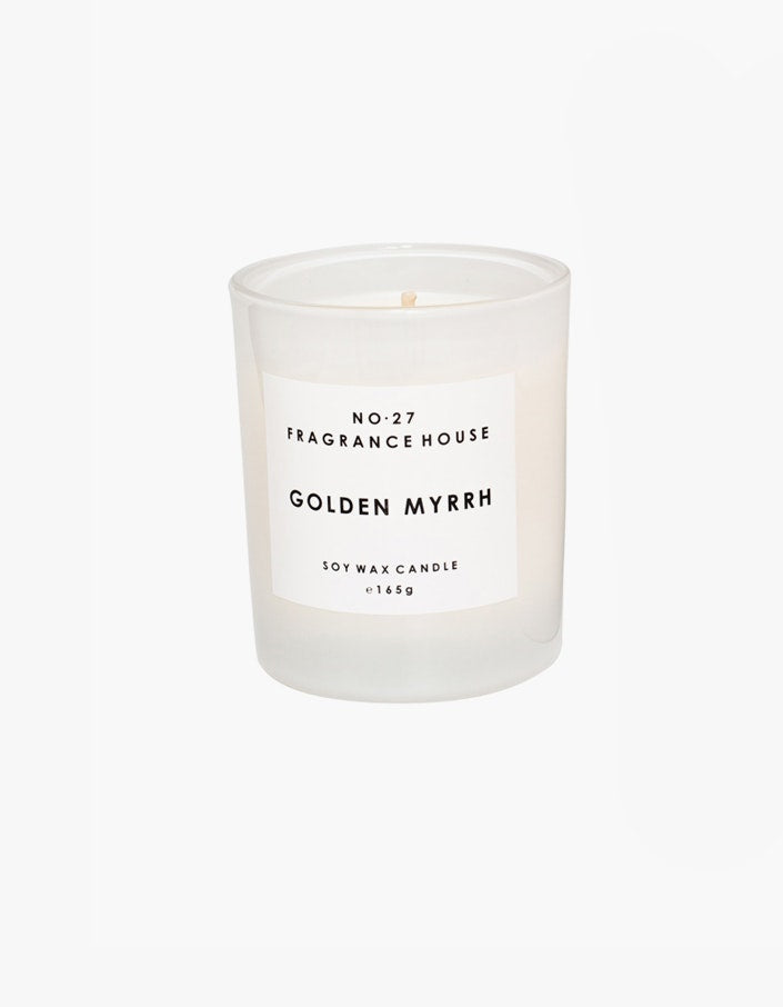 No. 27 Fragrance House Golden Myrrh Scented Candle