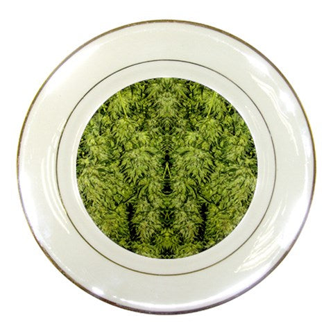 Printed Porcelain Dinner Plates, Ceramic Plate, 420 Snack Plate, Snack Plates, Collective Plate, Decorative Plates, Porcelain Dinner Plates, Porcelain Wedding Plates, Cannabis Cafe Plates, Marijuana Snack Plates