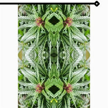Garden Flag, RV Curtain, Cafe Curtain, Marijuana Print, Cannabis Print, Wall Hanging, Wall Art, Fractal Art