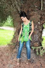 Swing Top: Tunic Top, Summer Top, Ganja Top, in Marijuana Print, Upcycled Patch Womens Swing Top, Tunic Top, Drop Hem Top