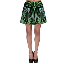 Cannabis Skirt, Womens Running Skirt, Skater Skirt, Flare Skirt, Clubwear for Women, Marijuanna Clothing, Festival Skirt, Womens Fairy Skirt, Womens Short Skirt