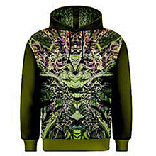 Hoodie, Zippered Hoodie for Men, Hoodie for Women, Ganja Print, Marijuana Print
