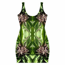 Body Con Dress, Ganja Dress, Marijuana Print, Rave Dress, Festival Dress, Clubwear Dress