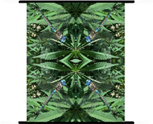 Marijuana Art, Cannabis Wall Art, Wall Art Fabric, Organic cotton, Silk Art Panels
