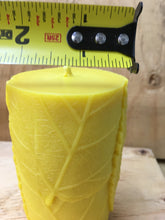 Beeswax Leaf Pillar Candle