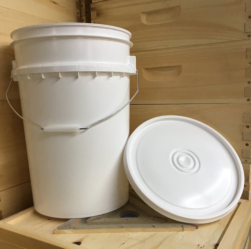 6 Gallon Pail (metal handle) and lid