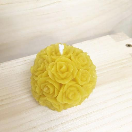 Beeswax Rose Ball Candle
