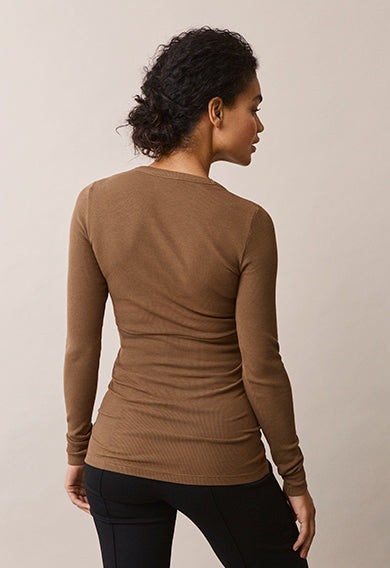 Signe Long Sleeve Top - Hazelnut