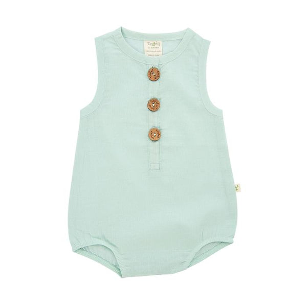 Ocean Green Organic Bubble Romper
