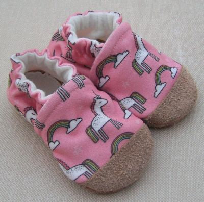 Organic Cotton Knit Slippers - Unicorn