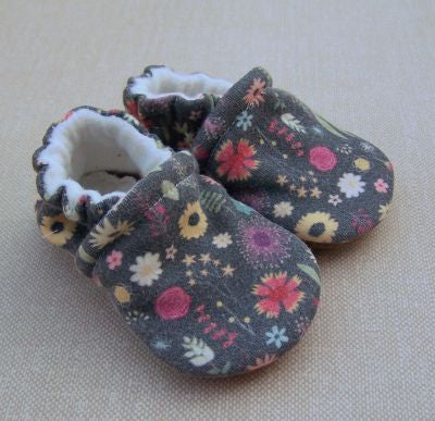 Organic Cotton Knit Slippers - Calico Floral