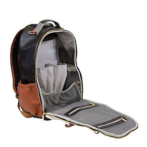 Boss Diaper Bag Backpack - Coffee & Cream