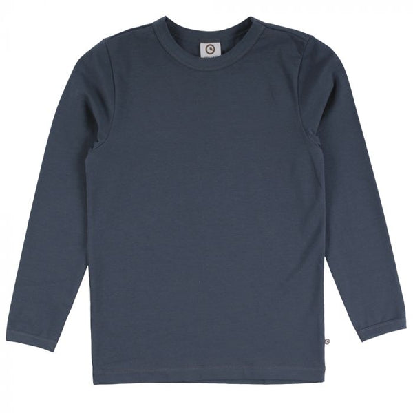 Solid Long Sleeve Cozy Me Tee -Midnight