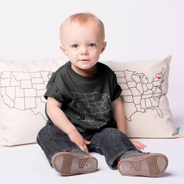 Toddler Map T-Shirt - Virginia (Various)