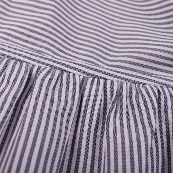 Woven Stripe Dress - White/Blue