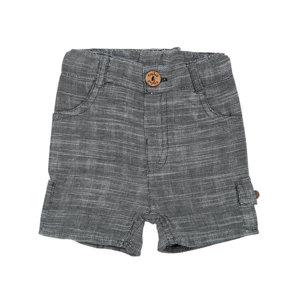 Grey Chambray Organic Cargo Shorts