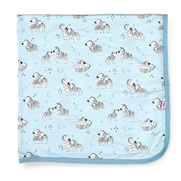 Modal Swaddle Blanket - Blue Little Ones