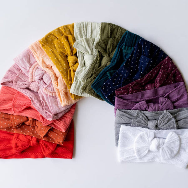 Wide Cable Knit Headband - Various Colors