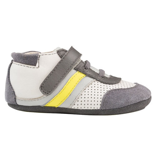 Soft Sole Mini Shoez - Grey and Yellow Everyday Ethan