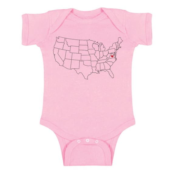 Map Onesie - Virginia (Various)