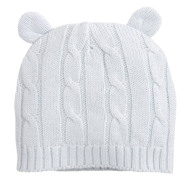 Cable Knit Hat - Light Blue