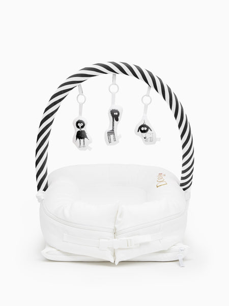 Toy Arch for Deluxe+ Dock - Black/White Stripe