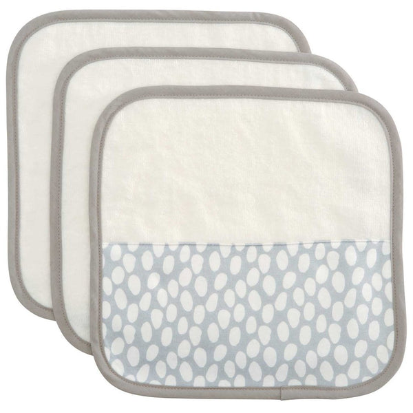 Organic Washcloth Set - Gray Dot