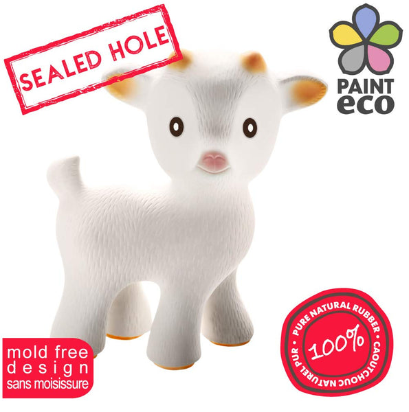 Sola the Goat Teething Toy (White or Tan)