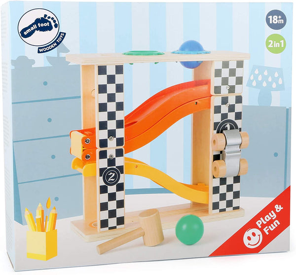 Wooden Marble Run Playset