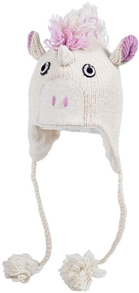 Hand Knit Unicorn Hat
