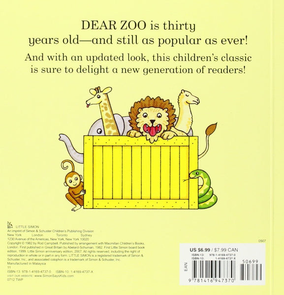 Dear Zoo - By Rod Campbell