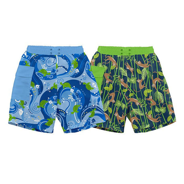 Pocket Trunks w/Built-in Reusable Absorbent Swim Diaper (Various Designs)