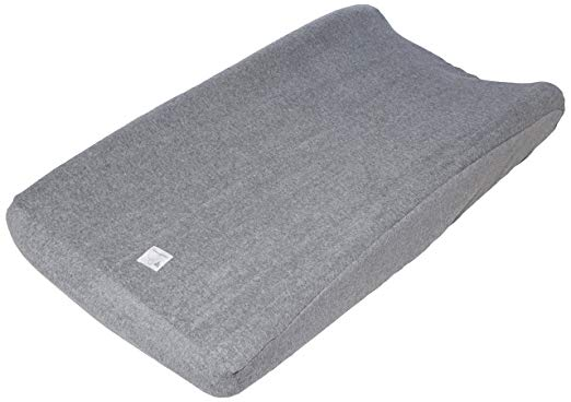 Organic Knit Terry Changing Pad Cover - Heather Grey