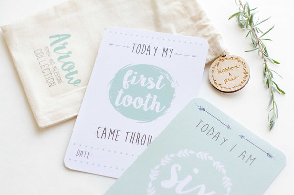 Baby Milestone Cards - Arrow