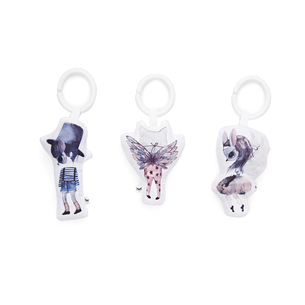 DockATot Hanging Toy Set - Cloud Friends