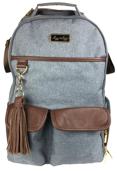 Boss Diaper Bag Backpack - Handsome Heather Grey