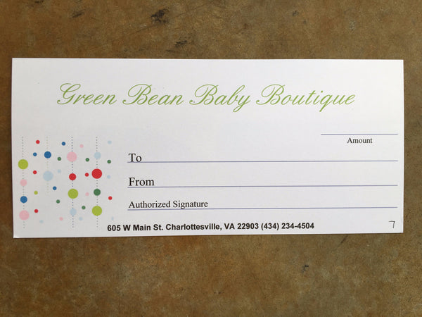 Gift Certificate - Various Amounts