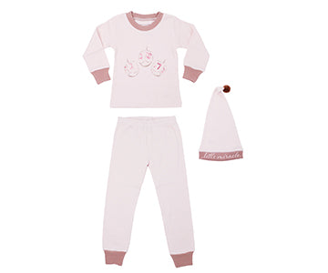 Pajama and Cap Set - Mauve Little Miracle