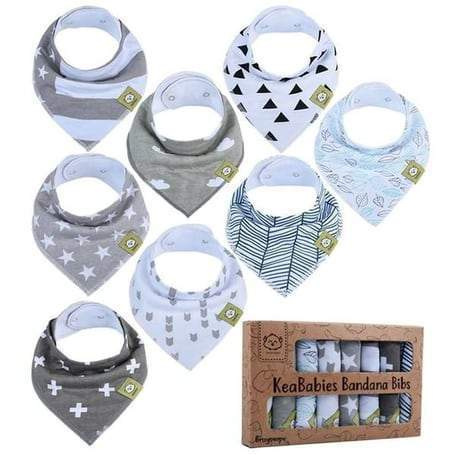Organic Cotton Bandana Bibs - Grayscape