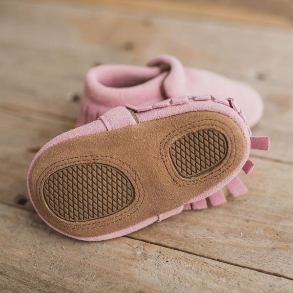Soft Sole Suede Moccasin - Pink