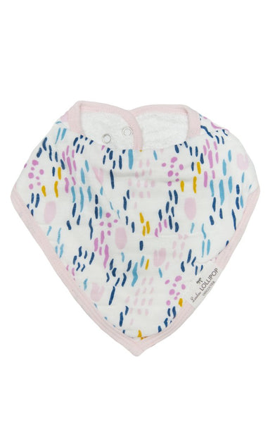 Luxe Muslin Bandana Bib Set - Light Field Flowers