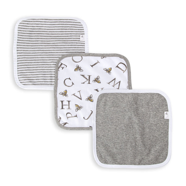 A-Bee-C Organic Washcloths 3 Pack