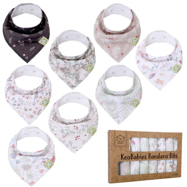 Organic Cotton Bandana Bibs - Bloom